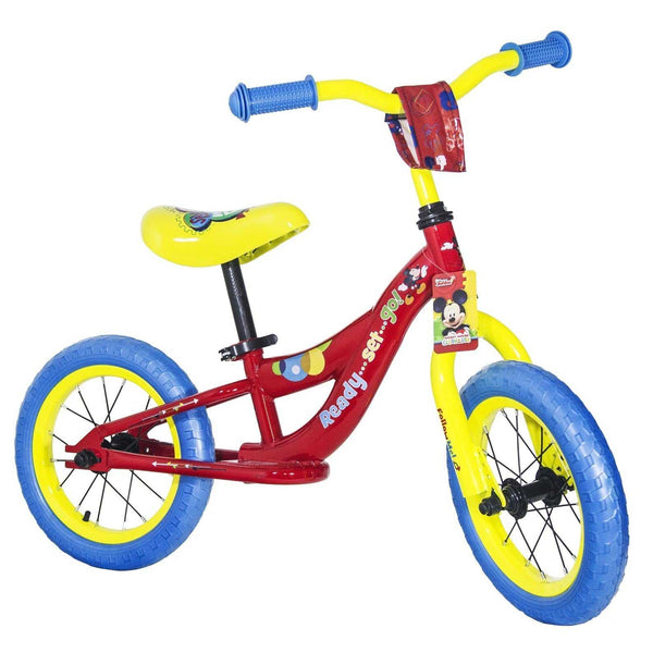"10"" Disney Mickey Balance Bike Kids Bicycle"