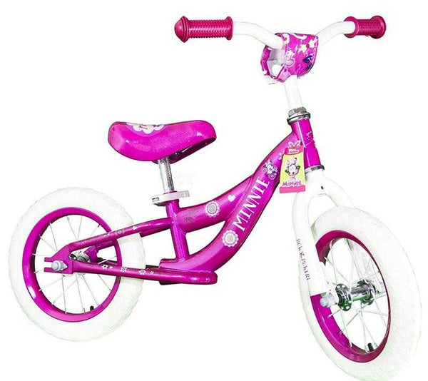 "10"" Disney Minnie Balance Bike Kids Bicycle"