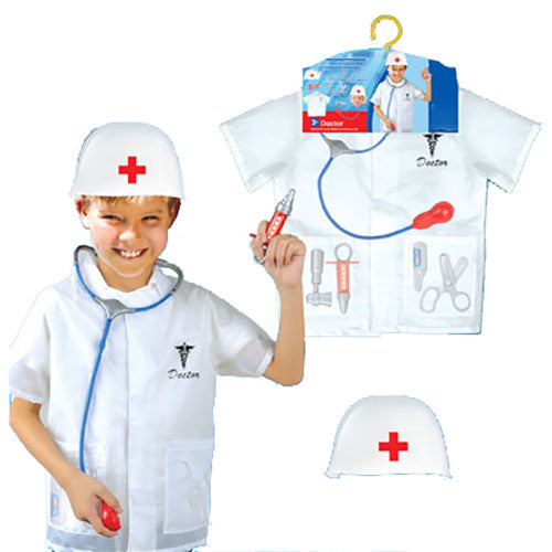 Kids Doctor Set with Helmet Costume