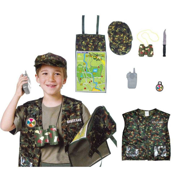 Kids Military Force Uniform Costume