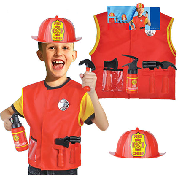 Kids Fireman Costume Set with and without Helmet