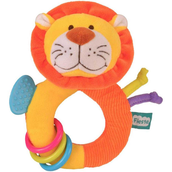 Fiesta Crafts Ringaling Lion Soft Rattle