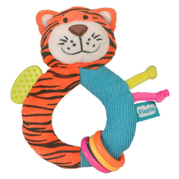 Fiesta Crafts Ringaling Tiger Soft Rattle