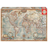 Educa 1500 Political Map Of The World Puzzle