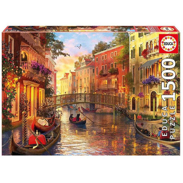 Educa 1500 Sunset In Venice Puzzle