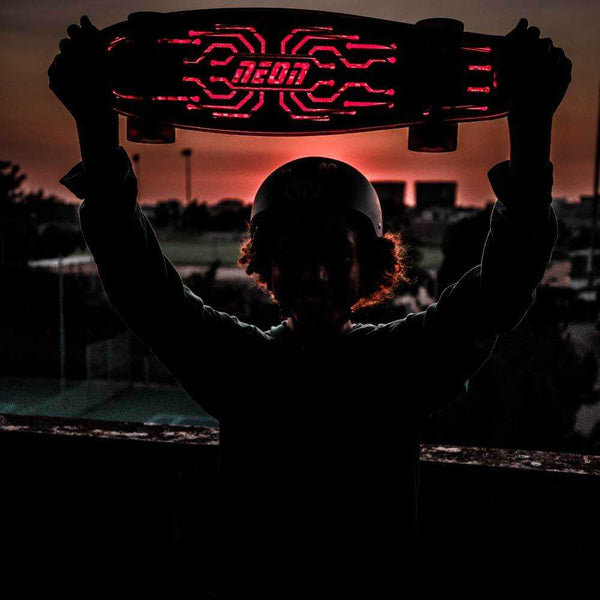 Neon Hype Skate Board Red