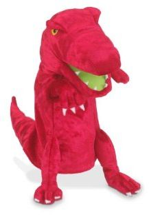 Fiesta Crafts Hand Puppet Red Dinosaur