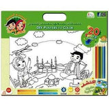 Fitra Toys - Posters To Color Include 6 Coloring Pencils Kids DIY Arts & Craft Kit