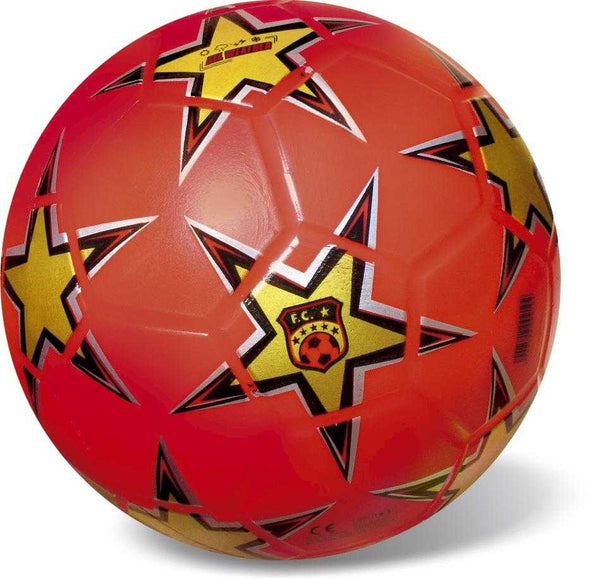 Starballs Sports Soccer Ball Star Red Gold 23cm