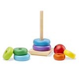 Melissa & Doug Rainbow Stacker Wooden Ring Educational Toy - emarkiz-com.myshopify.com