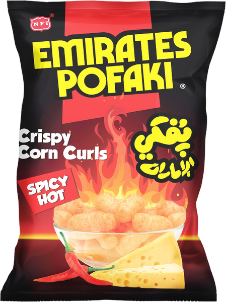 Emirates Pofaki Spicy Cheese Corn Curls 80g Packet - emarkiz-com.myshopify.com