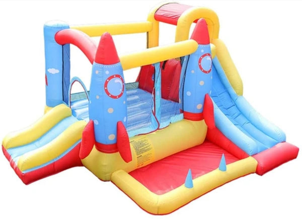 Inflatable Bouncy Castle Indoor Outdoor with Play Pool and Slides