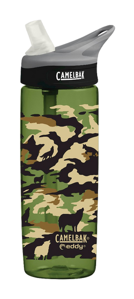 CamelBak Eddy .6L Camo Wolf Water Bottle