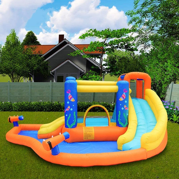 Kids Bouncy Castle Small Trampoline Children's Toy Slide Outdoor Play