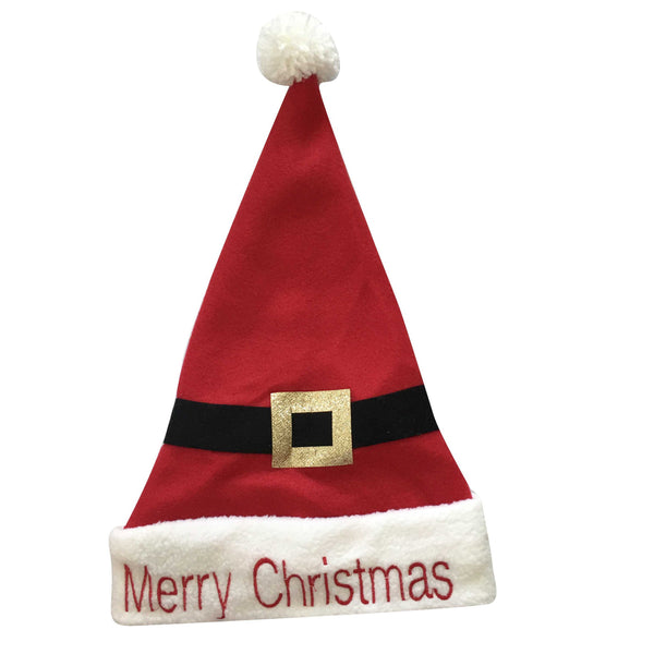 Christmas Santa Hat with Belt Design & Merry Christmas