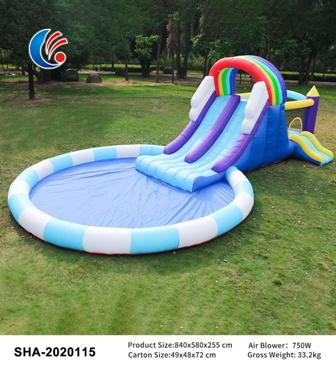 Inflatable Bouncy Castle Play Pool Indoor Outdoors Trampoline