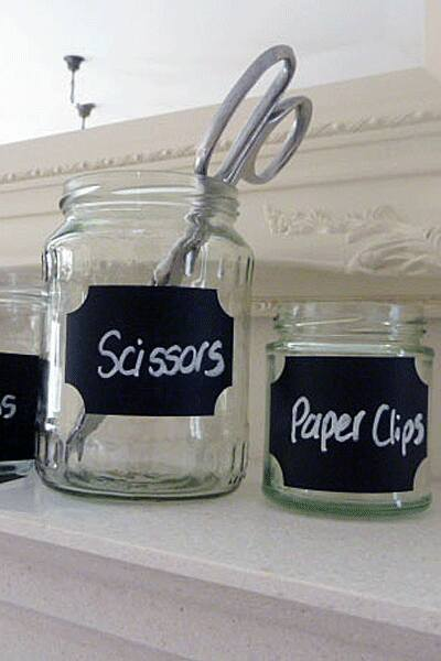 Chalk Small Label Decals - 20 Pieces