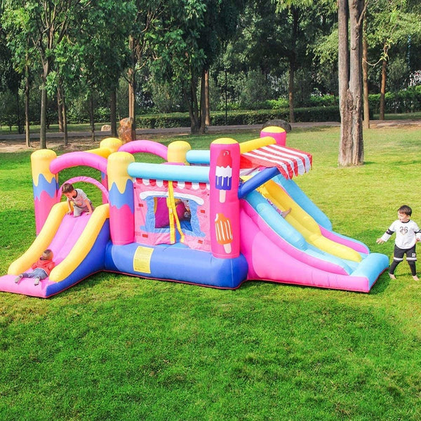 Candy Kids Inflatable Large Bouncy Castle for Children Outdoor with Multiple Slides
