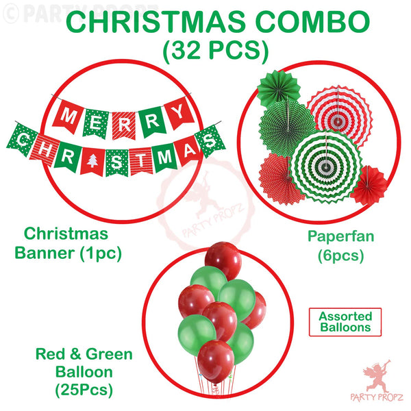 Party Propz Set of 32 Pcs Christmas Combo for Christmas Party Decorations - emarkiz-com.myshopify.com