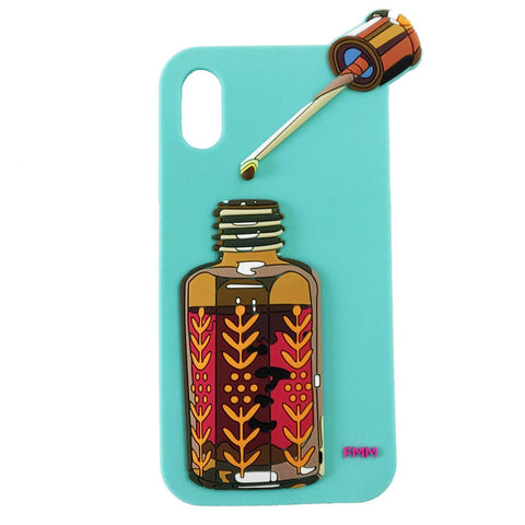 FMM IPHONE X Silicon Case Dihnoud Bottle