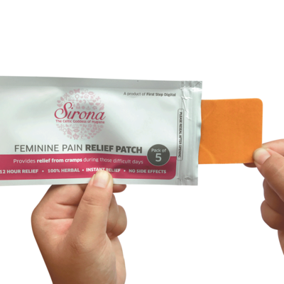 SIRONA - Feminine Pain Relief Patches - 5 Patches (1 Pack - 5 Patches Each) - emarkiz-com.myshopify.com