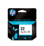 Genuine HP 22 C9352AE Tri-Color Printer Ink Cartridge