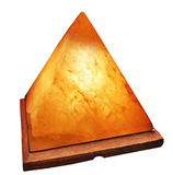 Himalayan Pink Pyramid Rock Salt Lamp Wooden Base