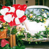 "JADE Valentines Day 12"" Red and White Heart Shape Latex Balloons - Set of 50 - emarkiz-com.myshopify.com"