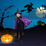 WITCH Costume with Cape and Hat - Purple