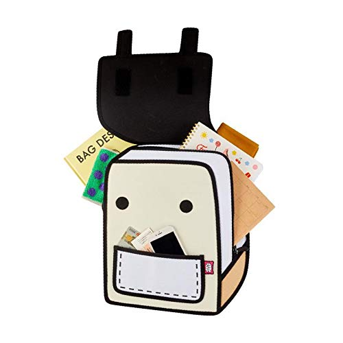 JUMP FROM PAPER Spaceman Backpack - Brown Rice 13 inch