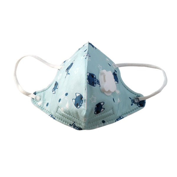 Kids Masks Washable Printed Sky Blue