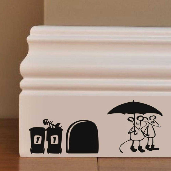 Rats in Umbrella Wall Decal - emarkiz-com.myshopify.com