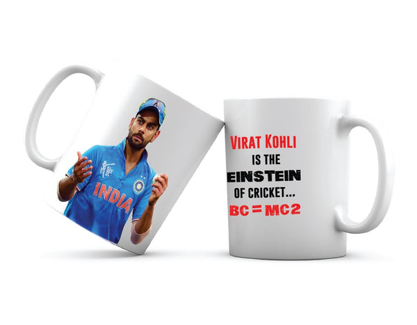 Virat Kohli Funny Quote Printed Coffee Mug White/Blue/Red - 11 Oz