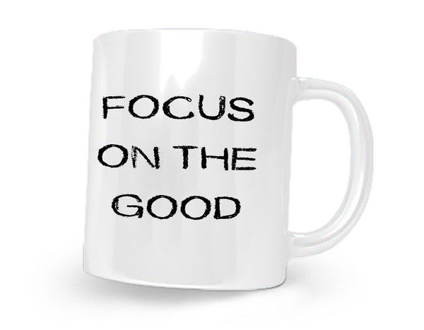 Focus On The Good Coffee Mug White/Black - 11 oz