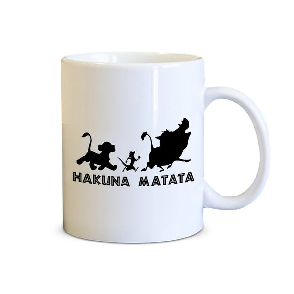 Hakuna Matata Printed Coffee Mug White/Black - 11 oz