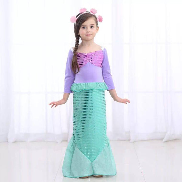 Girls Mermaid Ariel Costume | Battery