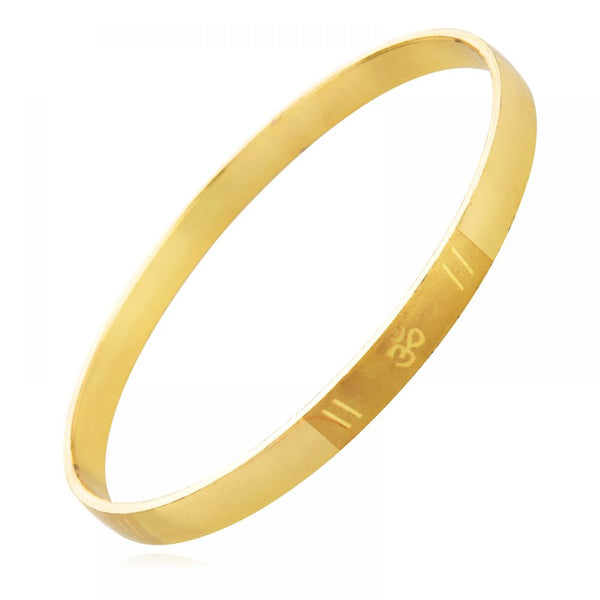 Gold Plated Om Bangle Bracelet Men - emarkiz-com.myshopify.com