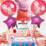 Party Propz Peppa Pig Theme Foil Balloons For Birthday Party Supplies -  5 Pcs