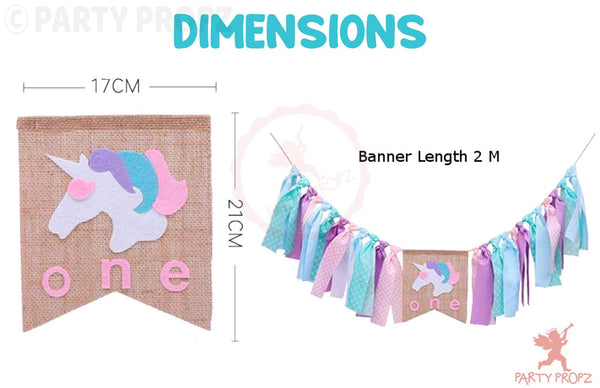 Party Propz Set of 1 Unicorn Tassel Banner for Girls | Deepika