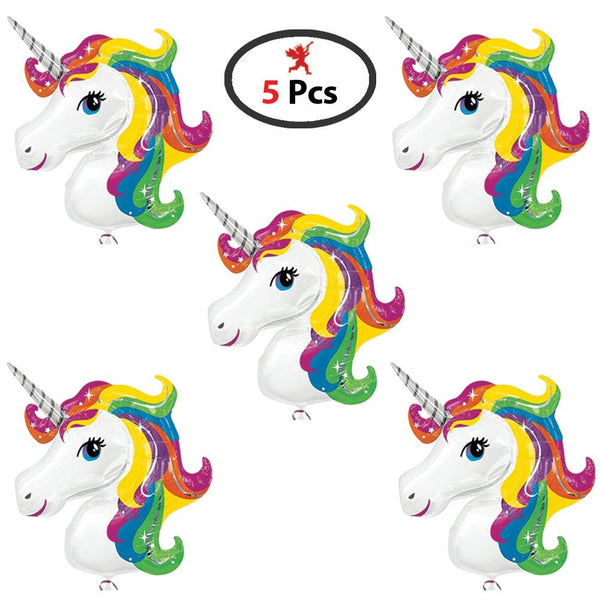 "Party Propz Unicorn Theme 16"" Foil Balloon -  Pack Of 5 