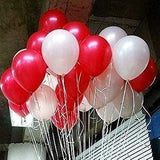 "JADE Valentines Day 12"" Red and White Latex Balloons - Set of 100 - emarkiz-com.myshopify.com"