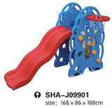 Kids Elephant Blue Slide & Basketball Rack for Indoor or Outdoor - emarkiz-com.myshopify.com