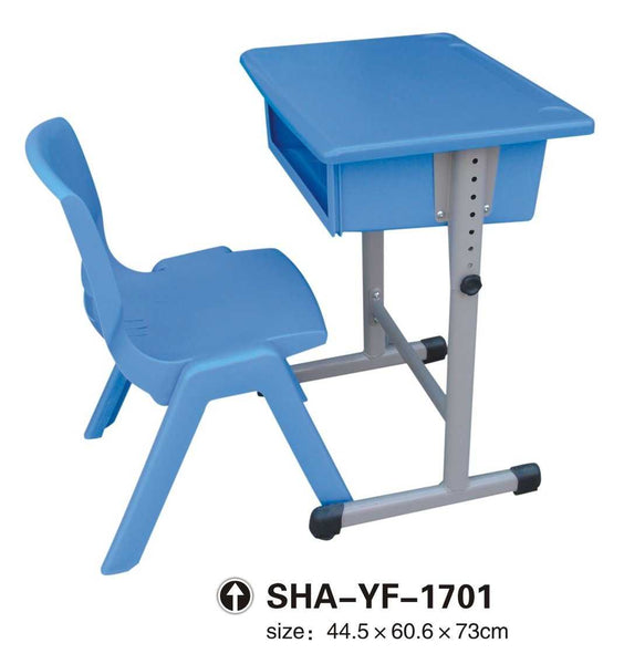 Blue Study Desk with Blue Plastic Chair