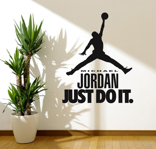 Micheal Jordan Quote Wall Sticker Black - 70x90 cm