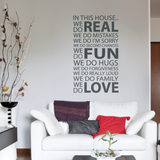 Family Quote Wall Decal Grey 50x90 centimeter SYW-103