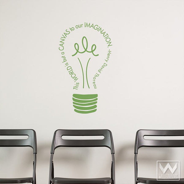 Idea Quote Wall Sticker Green - 40x60 cm