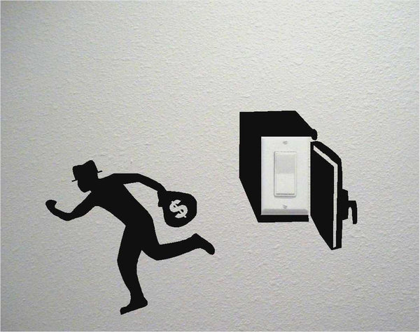 Robber Switch Wall Decal Sticker - emarkiz-com.myshopify.com