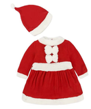 Jade Christmas Santa Claus Costume for Girls with Hat - emarkiz-com.myshopify.com