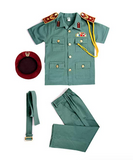 UAE Police Officer Green Uniform Kids Costume