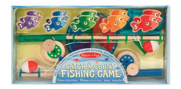 Melissa & Doug Catch & Count Wooden Fishing Game With 2 Magnetic Rods - emarkiz-com.myshopify.com